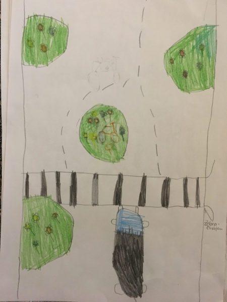 Zebrastreifen und Grünflächen (2b)